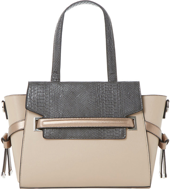 DUNE DELPHI FAUX LEATHER WINGED TOTE - was £70  NOW £28