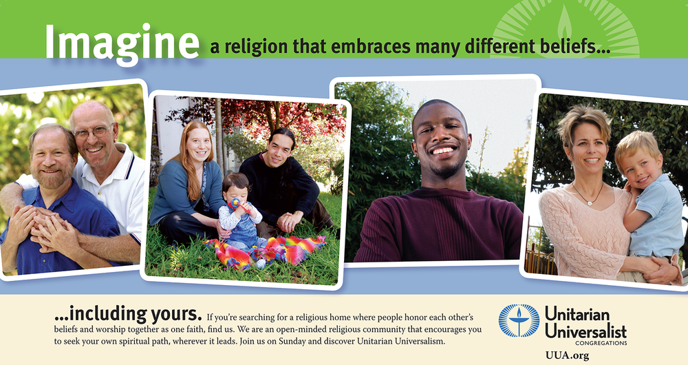 WE are UU - Learn more about Unitarian Universalism.