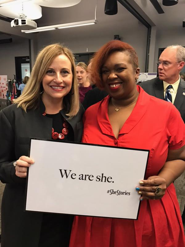 Anasa Troutman with Nashville's Mayor Megan Barry at iFundWomen's Nashville Marketplace
