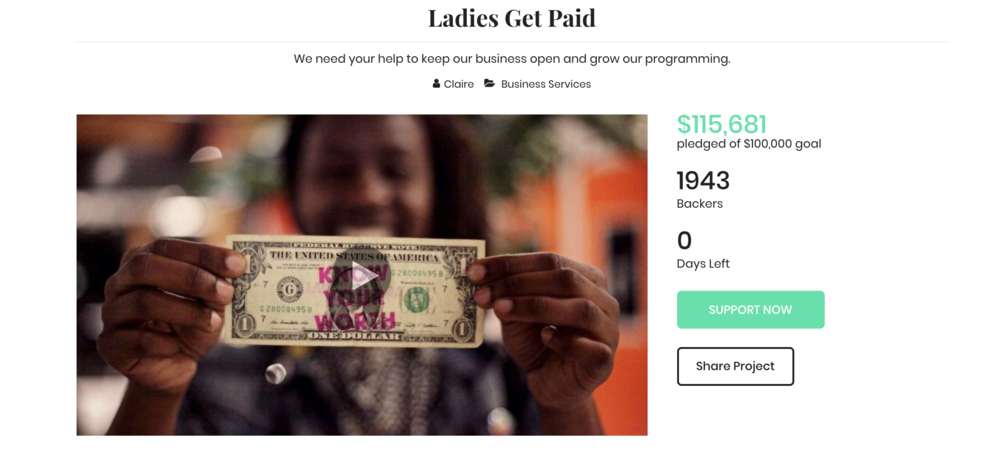 Ladies Get Paid iFundWomen Campaign, May 2018
