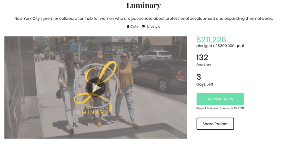 Luminary  is a collaboration and networking space for professional women, opening in New York City
