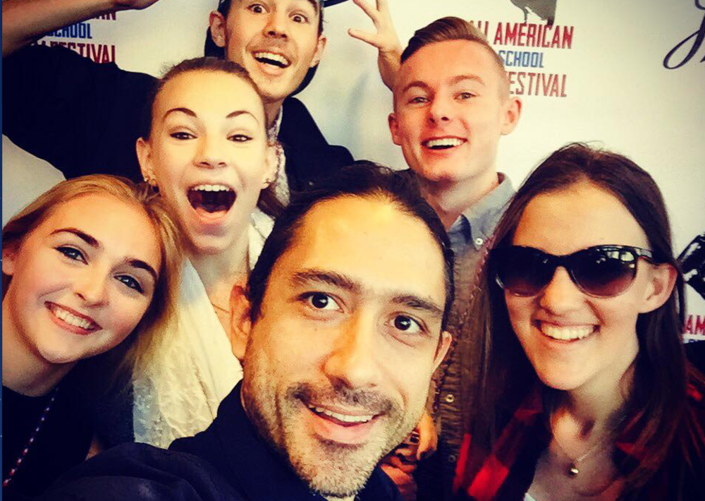 Miguel and his SOCAPA students at the All American High School Film Festival.