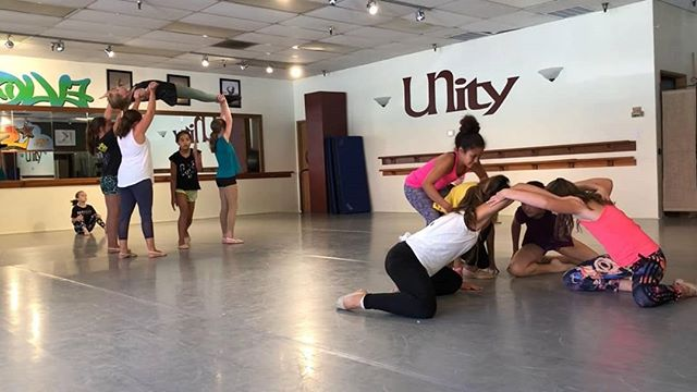 Come watch and cheer on our newest group, EVOLVE PETITE, showcase their camp dance TODAY at 2:45p . #evolvepetite @unityschoolofdance  #companydancers #contemporarydance #lyricaljazz #lyrical #dance