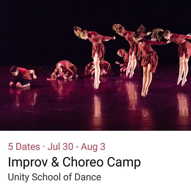 Technique, Improvisation & Choreography!  CAMP Next week - sign up at the Studio!  #companydancers #camp #dance #improv #technique