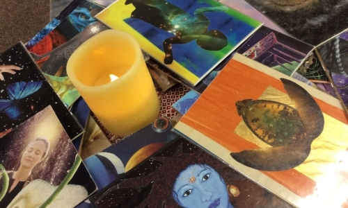 cards and yelllow candle.jpg