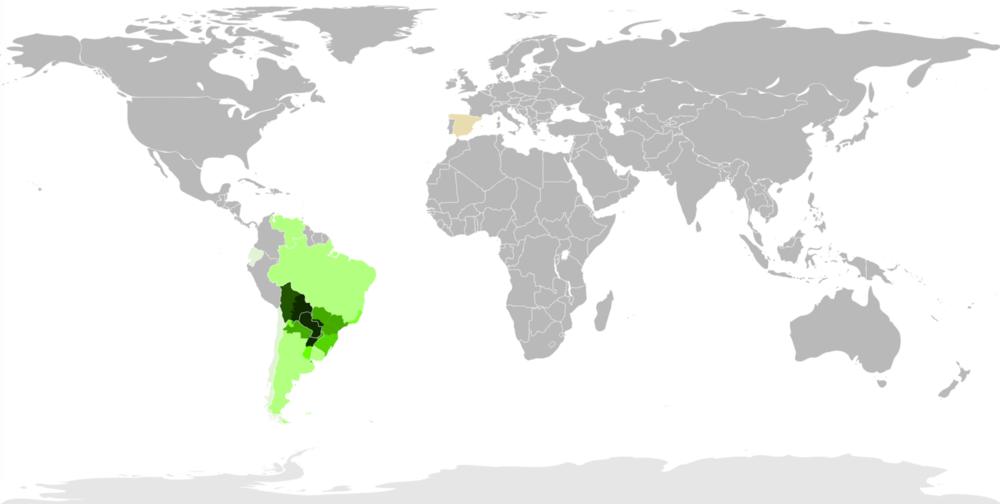 Speaking Guarani World Map