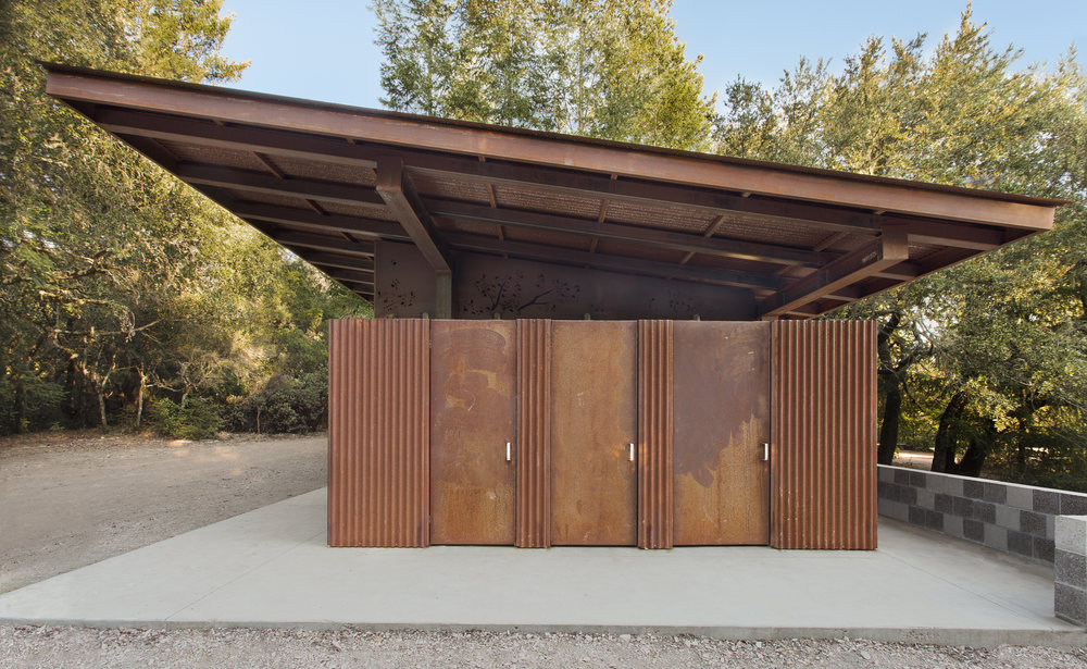 Corten Steel Santa Cruz Mountains