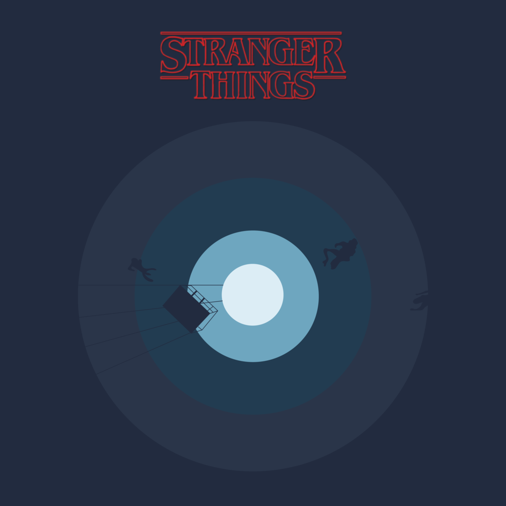 illustration stranger things