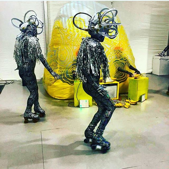 That time during @artbaselmb 2015 that we skated in a @tmsisters & @sleeperspeaks performance for the @artcentersf programming in @untitledartfair . . #Miami #artbasel #swirv #swirvskate #rollerskating #moxie #moxieskates #tmsisters #sleeperspeaks @tallygator305 @franister @electricNatasha