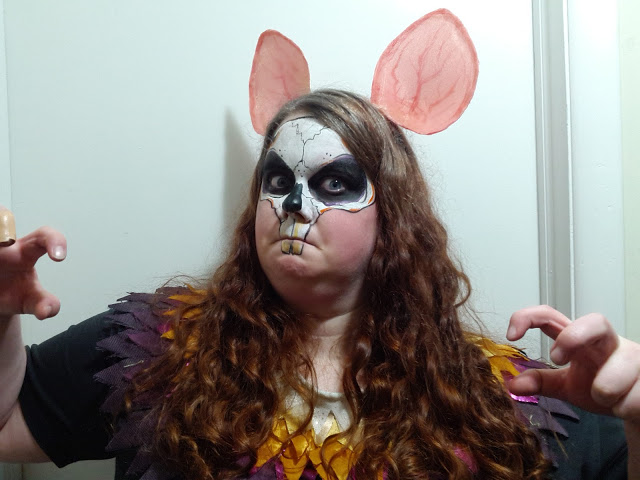 Some face paint I did on my partner Elise for last years Fairy Halloween ball.