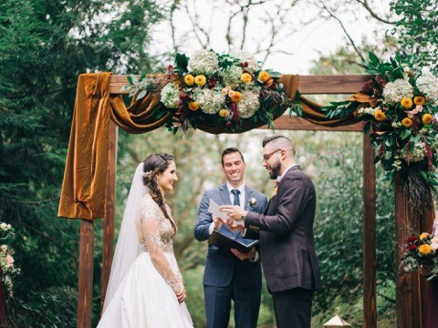 Rustic Wood Wedding Ceremony Arch Pittsburgh Penn