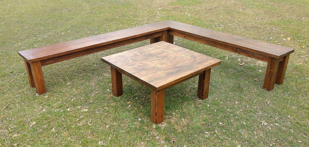 Wood Lounge Set Rental