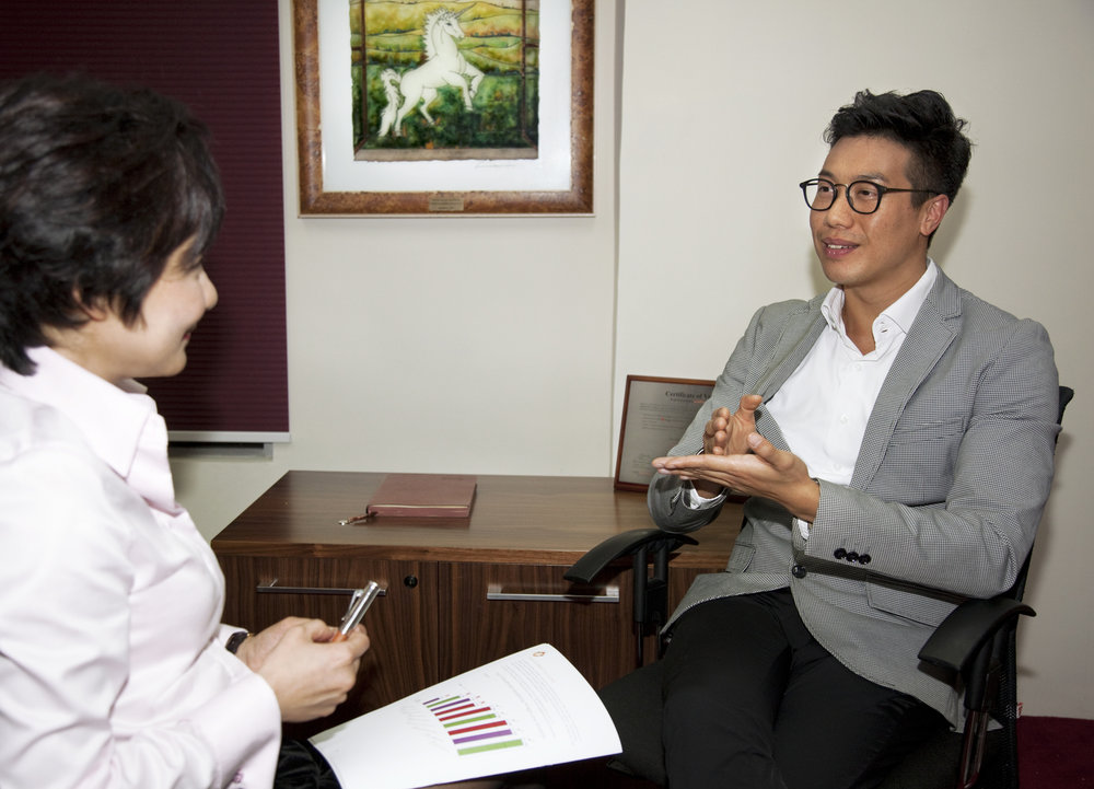 Executive coaching for Mr. Chester Tsung, Brand Manager, Nars, Hong Kong.