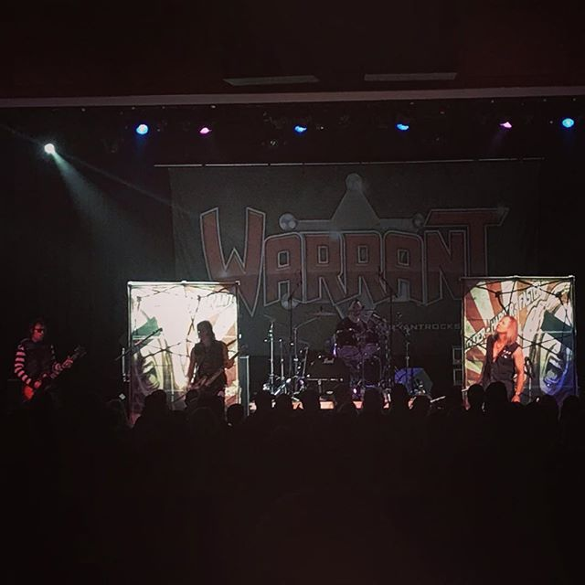 @warrantrocks killing it @littlerivercasino Jan2019. Check who's coming next and get your tickets to another great show.