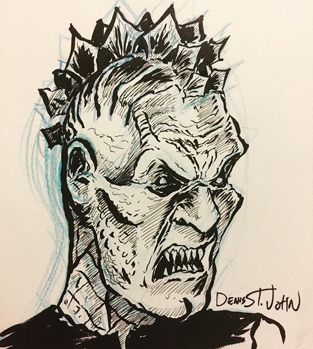 This week we met this Stegosaurus looking demon at #slayerfest98 oh and Poley raps the summary, you should really check this episode out . . . #buffythevampireslayer #buffyart #buffyrewatch #demonart #monsterart #podcasting #buffypodcast