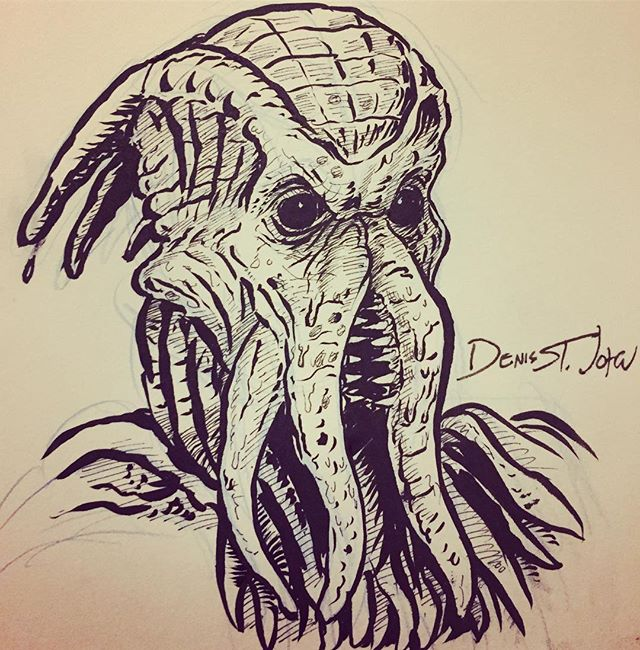 #cthulu's baby cousin from the beginning of The Wish! New episode is up! . . #buffyverse #buffythevampireslayer #buffyart #monsterart #lovecraftian #lovecraftianart #drcalimari?