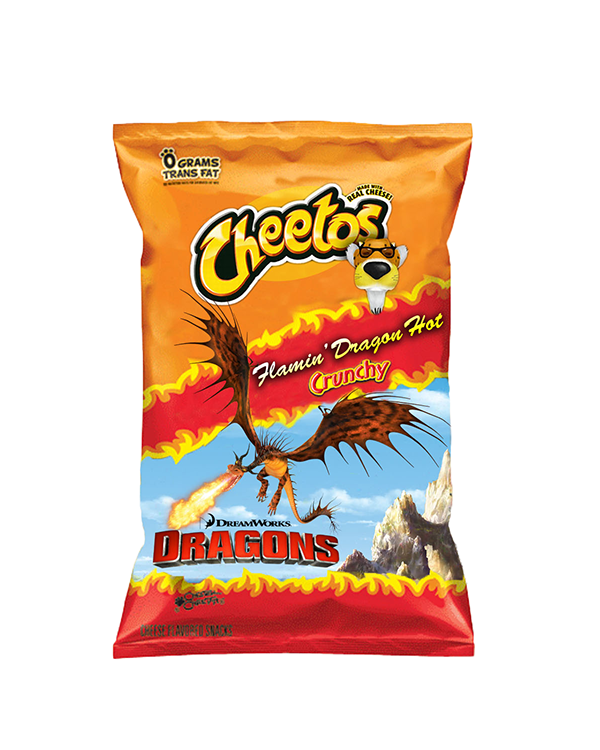 Frito Lay Flamin' Hot Cheetos Mock-Up