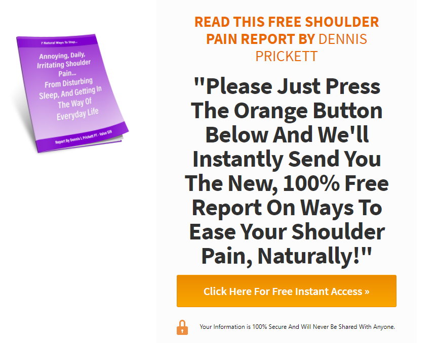 shoulder pain free report