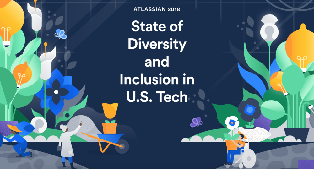 Image courtesy Atlassian State of Diversity Report 2018