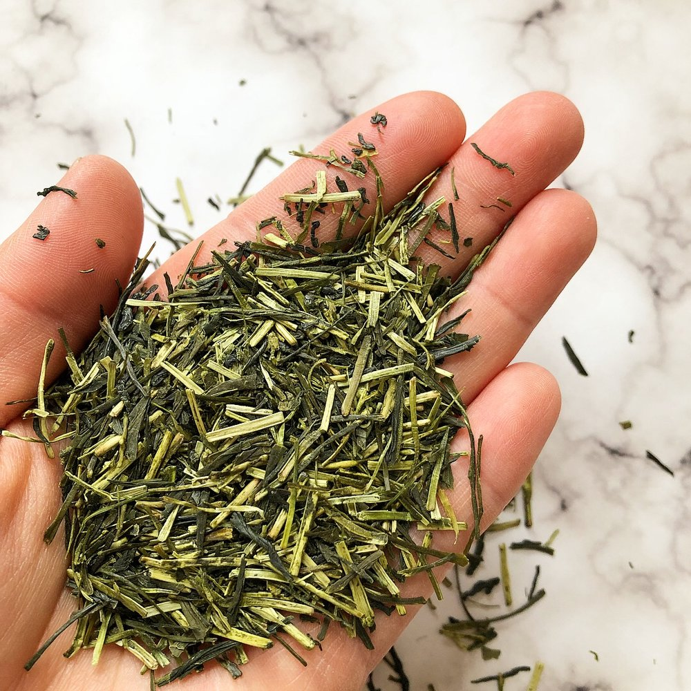 "Pictured above is our Kukicha. Ours is Gyokuro and Sencha base green tea with both young leaves and delicate tea stems. Click "" here "" to view product."