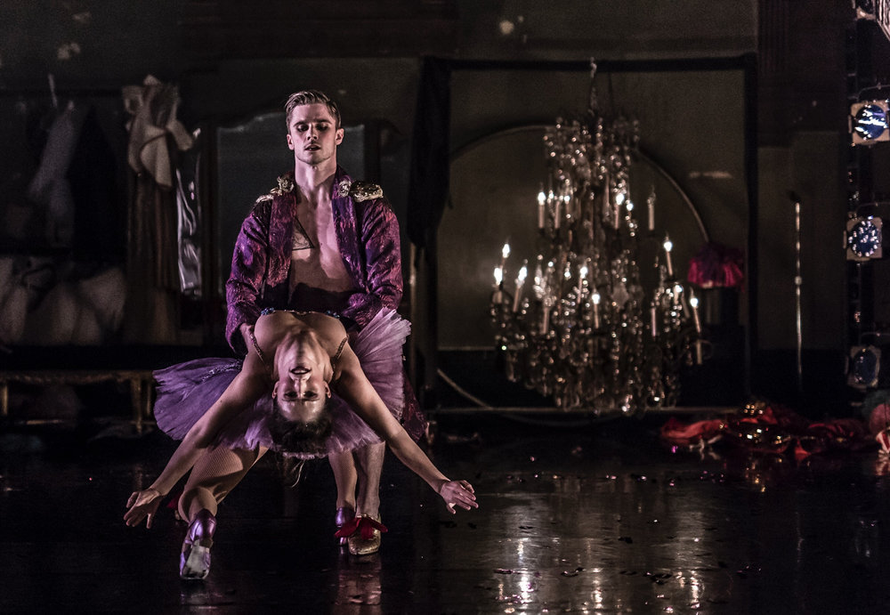 in Austin Mccormick's 'Nutcracker Rouge' with Allison Ulrich  Company XIV  image by Mark Shelby Perry