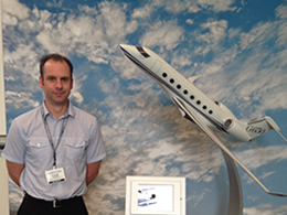 Russell, Head Engineer, at the Gulfstream Aerospace Suppliers Conference.