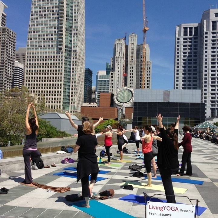 Living Yoga at Yerba Buena Gardens