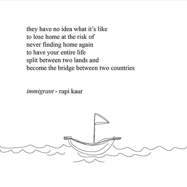 Eloquently put. #home #immigrant #poet