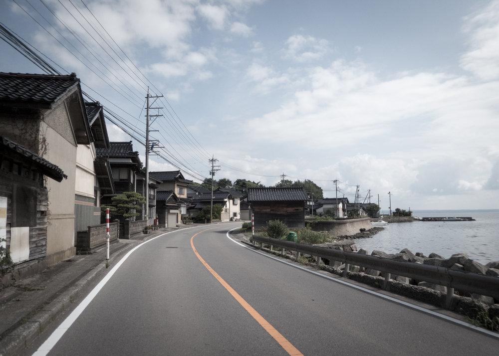 Coastal road, Ishikawa prefecture.