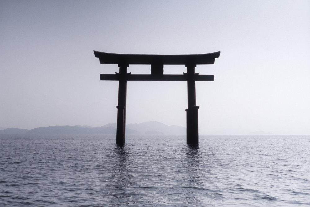 Torii Gate, Lake Biwa
