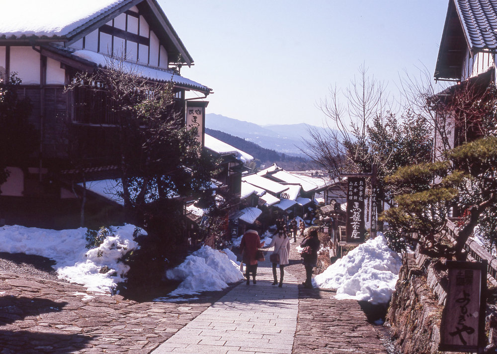 Magome in winter on the Nakasendo