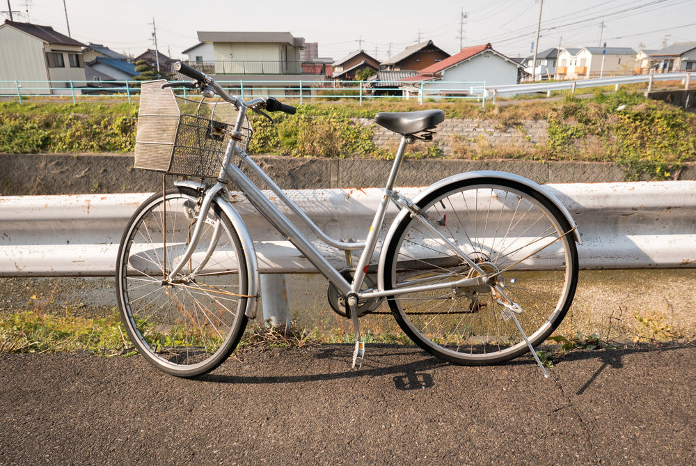Almost definitely a stolen bicycle (mamachari). If you're bike doesn't look like this it'll probably be safe.