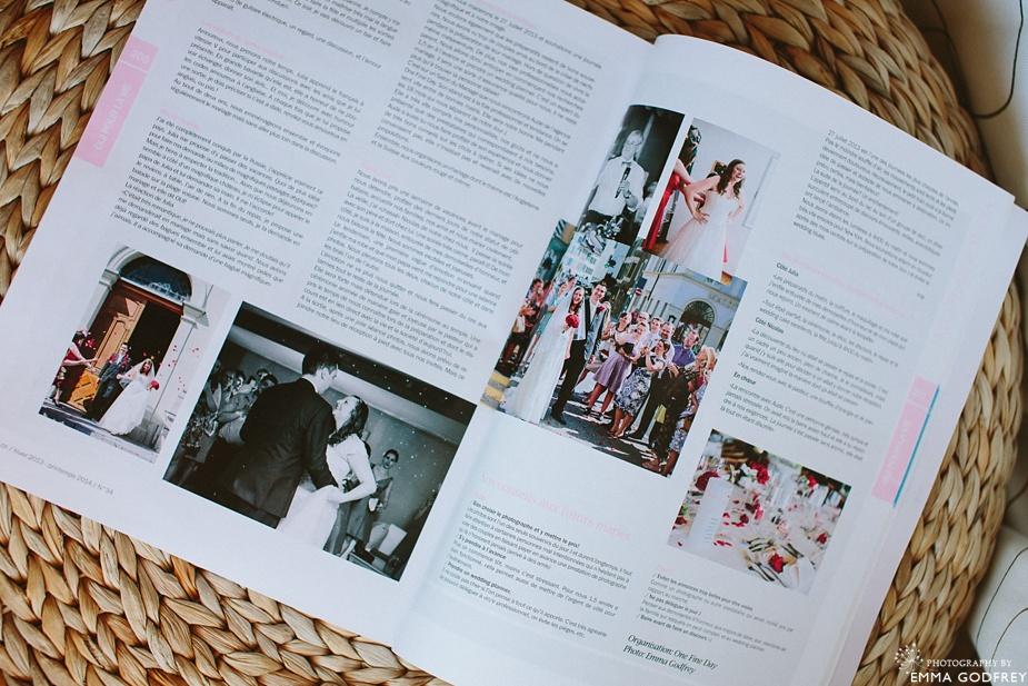 Oui pour la vie magazine feature spread