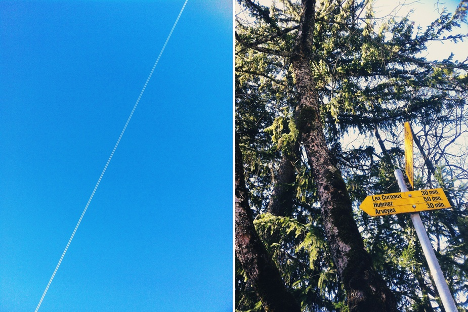 iphone VSCO cam plane trail & sign