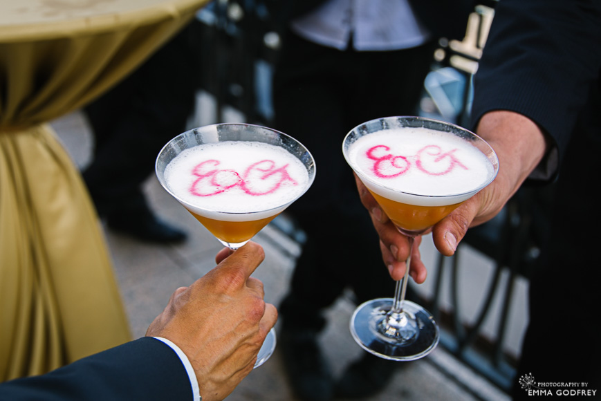 Signature monogram cocktails