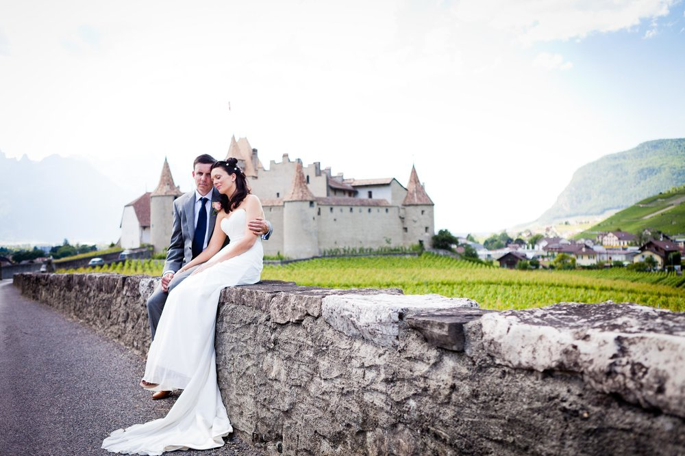 Swiss castle wedding Aigle
