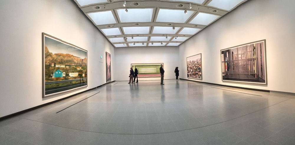 The upper galleries in the new Hayward Gallery, Southbank, London. Photography works by Andreas Gursky.