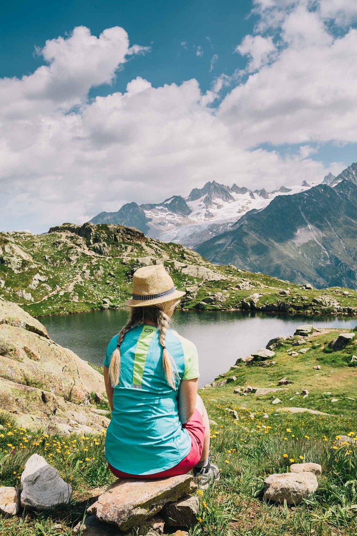 Self-portrait in Chamonix, France. Inspired by Elina Brotherus, photo by Emma Godfrey.