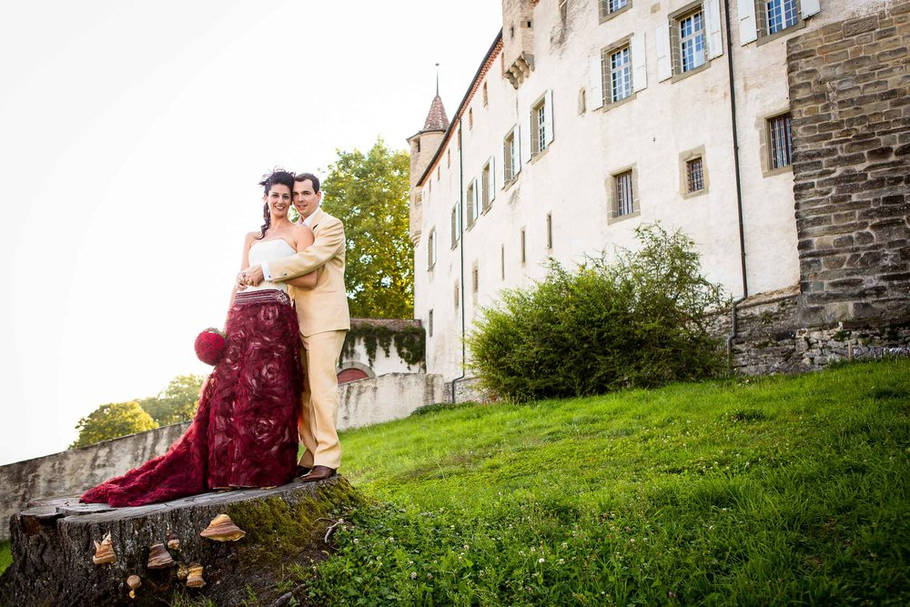 Château d'Oron castle wedding 10
