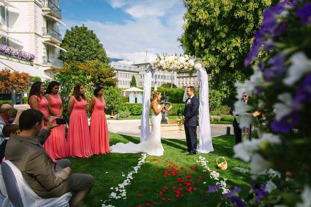 Outdoor Wedding Grand Hotel du Lac Vevey