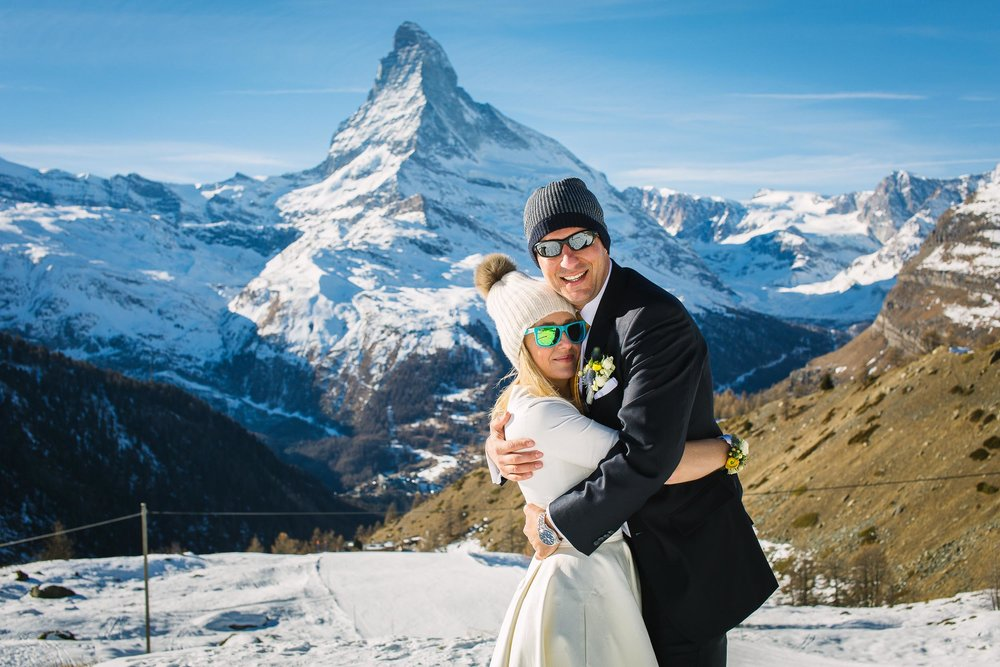 Magical wedding photos in Zermatt