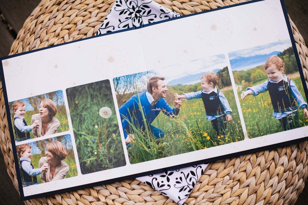 Albums de portrait - Parcourez les galeries des albums et découvrez comment commander votre album de famille.