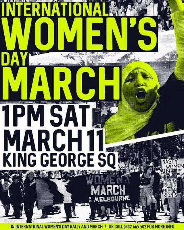 #BEBOLDFORCHANGE  INTERNATIONAL WOMEN'S DAY RALLY & MARCH BRISBANE | MARCH 11 @ 1PM | KING GEORGE SQUARE. Check out the Facebook event for more info & if you're not from Brisbane, be sure to find a rally & march in your city!  If you're unable to attend or even if you are, there is still a way you can help support! Head over to  www.internationalwomensday.com to select your #BEBOLDFORCHANGE area along with other ways you can help further support this movement.  #STANDUPFORWOMEN #JOINTHEMOB #THEMOVEMENT  #BEBOLDFORCHANGE #BLACKMOBSUPPORTS #BRISBANERALLY #BRISBANEMARCH #KINGGEORGESQUARE #INTERNATIONALWOMENSDAY #WOMEN #WOMENRIGHTS #THEMOVEMENT
