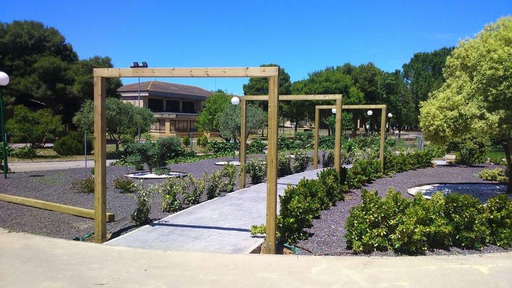 Diseño de jardines del centro Ciudad Residencial Sonsoles de Atades