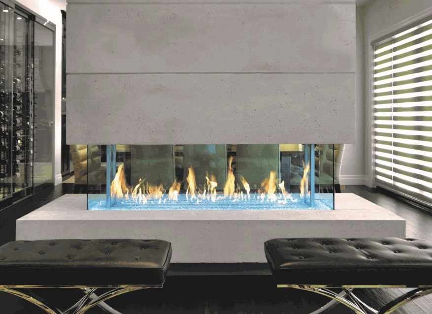 Custom Gas Fireplaces -
