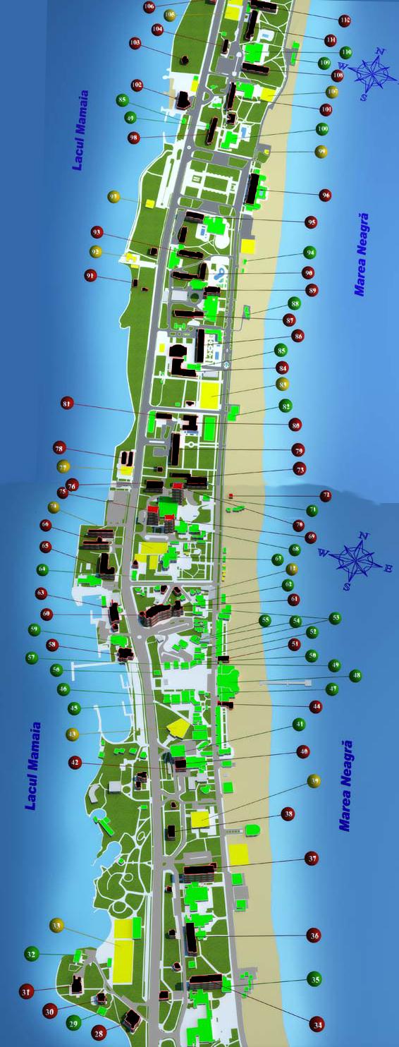 Target hotels show in red; for more details visit link on GOOGLE MAPS