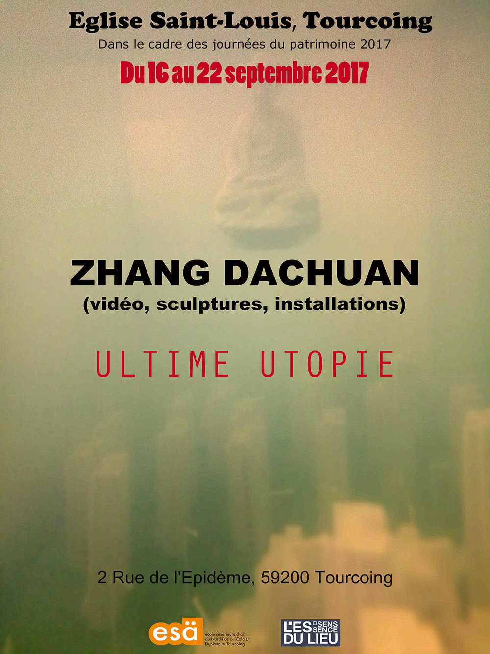 - En collaboration avec l'école supérieur d'art (ESA), l'artiste chinois Dachuan Zhang présentait son exposition,