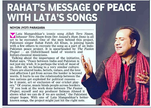 Many thanks to the @deccanchronicle_official for publishing this article about our upcoming song with @officialrfakworld, @dancerukmini  and @kaushiki_sings Check it out ! #news #rahatfatehalikhan #kaushiki #newrelease #newmusic #ustad #allahteronaam