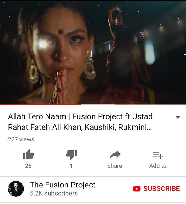 Full song OUT NOW on our official YouTube channel! Link in bio. @rfakworld @dancerukmini @kaushiki_sings #rahatfatehalikhan #newrelease #thefusionproject