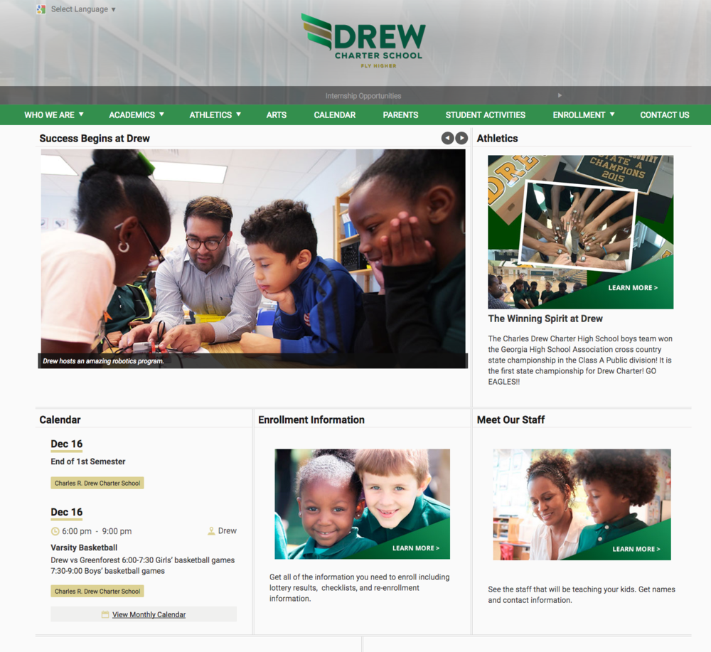 Drew Charter School  in Atlanta, GA.